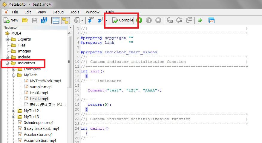 MT4 mq4ファイル ex4ファイル 作る 方法